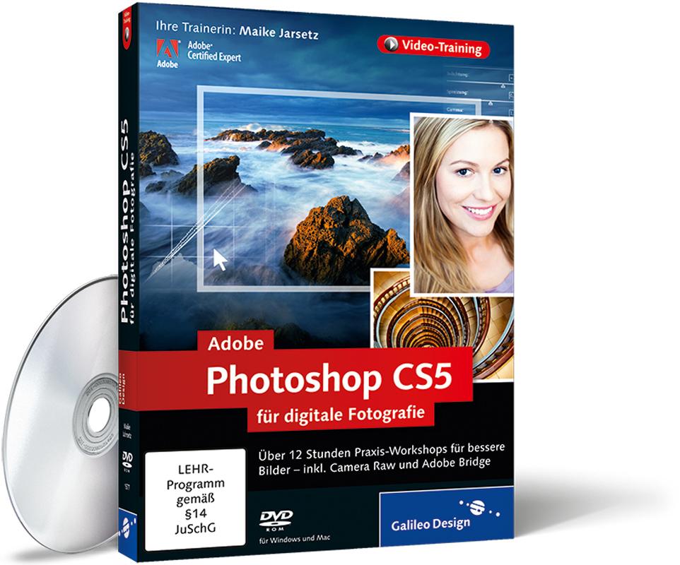 Cover zum video training adobe photoshop cs5 für digitale fotografie